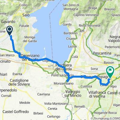 Da Via Giovanni Pascoli 16, Calvagese della Riviera a Via Aeroporto, Sommacampagna