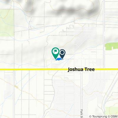 Chollita Rd, Joshua Tree to Chollita Rd, Joshua Tree