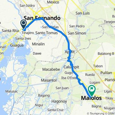 Philippines, Bacolor to Paseo del Congreso Street 188, Malolos