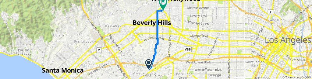 9730 Regent St, Los Angeles to Melrose Ave, West Hollywood