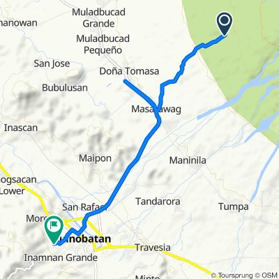 Masarawag to Unnamed Road, Guinobatan