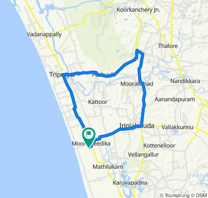 Route from Emmad Road, Perinjanam
