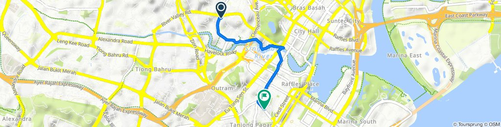 1 River Valley Close, River Valley to 45 Maxwell Road, Singapore