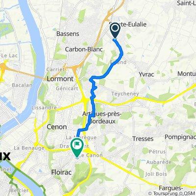 De 9 Rue des Tritons, Sainte-Eulalie à 14 Rue Gabriel Fauré, Floirac