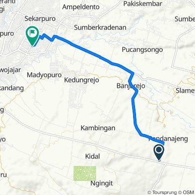 Mortes, Kecamatan Tumpang to Jalan Danau Sentani Dalam I 23, Kecamatan Kedungkandang