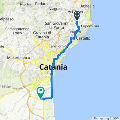 Da Via Dottor Giovanni Chiarenza 10, Aci Catena a Strada Ix Zona Industriale 12, Catania