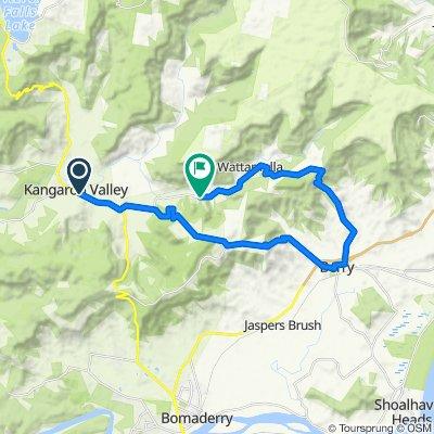 178 Moss Vale Road, Kangaroo Valley to 898–958 Wattamolla Road, Wattamolla