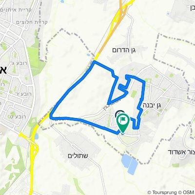 Efroni Street 751, Gan Yavne to Shahaf Street 3, Gan Yavne