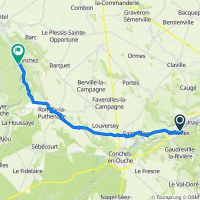 De Lotissement le Pré de la Rochette 15, Glisolles à Rue de la Forêt 2, Grosley-sur-Risle