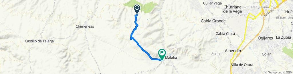 De Chimeneas a A-385, La Malahá