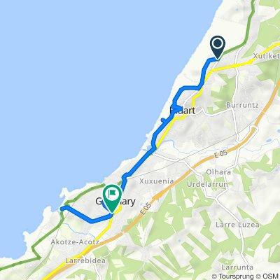 De 283 Avenue de Biarritz, Bidart à 11 Avenue du Général de Gaulle, Guéthary