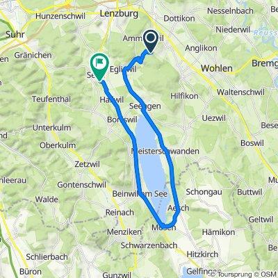 Route nach Oberfeldweg 6, Seon