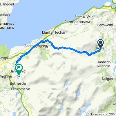 Route to 1–16 Mountain Road, Bangor
