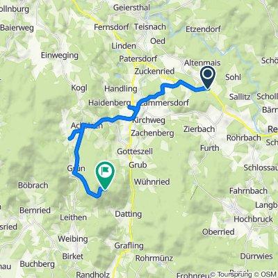 Route von Busmannsrieder Straße 5, Teisnach