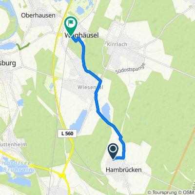 Brahmsweg 7, Hambrücken nach Weinbrennerstraße 9, Waghäusel