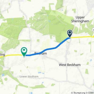 Holt Road, Sheringham to Cromer Road, Holt