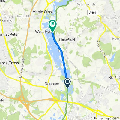 Route to Coppermill Lane, Uxbridge