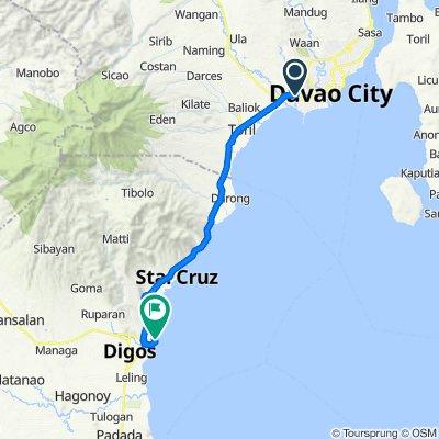 Pag-asa Drive 23, Davao City to Unnamed Road, Digos City