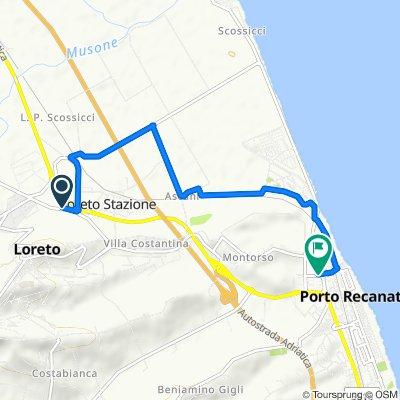 Via Giovanni Pascoli 3, Loreto nach Via del Mare 7, Loreto