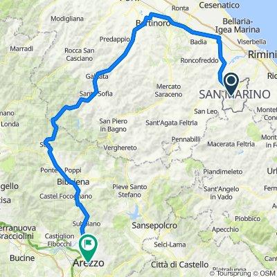 Route from Piazzale Campo della Fiera 18, Valdragone