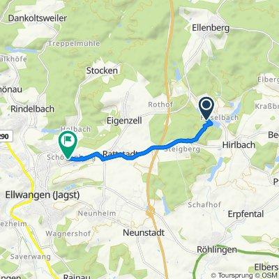 Route nach Schönenberg 40, Ellwangen