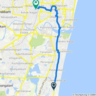 Chennai to 46/26, Chennai