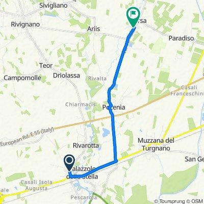 Langsame Fahrt in Torsa