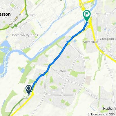 Fox Covert Lane, Nottingham to Clifton Lane, Nottingham