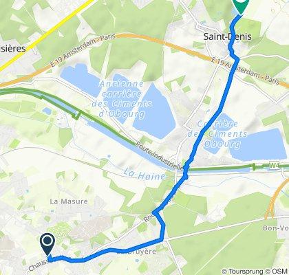 Clos Fernand Debouck 2–6, Mons to Rue de la Filature 10–12, Mons
