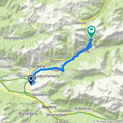 Route von Barxerstraße 26, Ludesch
