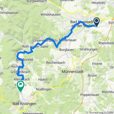 Neuhauser Straße 10, Bad Neustadt nach Am Gradierbau, Bad Kissingen