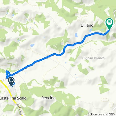 Via della Libertà 12, Castellina Scalo naar SP51, Castellina in Chianti