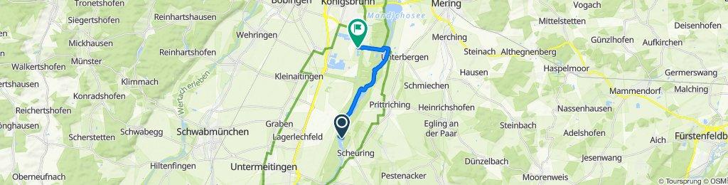 Route nach Fohlenhofstraße 79, Königsbrunn
