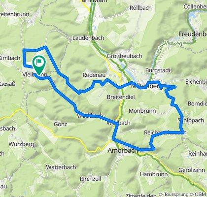Vielbrunn - Neudorf - Miltenberg - Mainbullau - Hainhaus