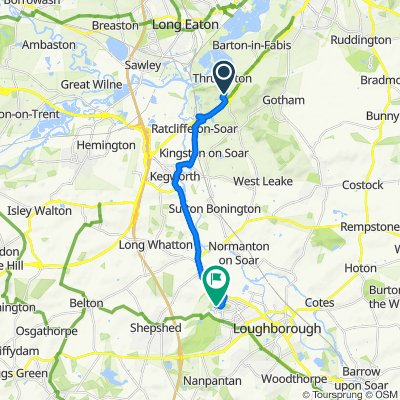 Route to 165 Maxwell Dr, Loughborough