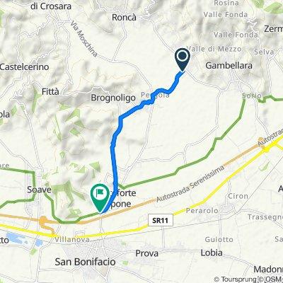 Da Via Alpone 2, Terrossa a Via Cappuccini 6, Monteforte d'Alpone