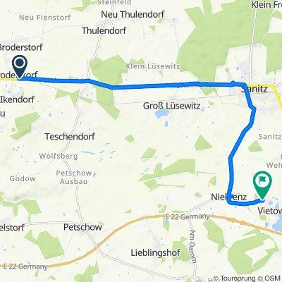 Rostocker Chaussee 18, Broderstorf nach Vörn Enn 2B, Sanitz