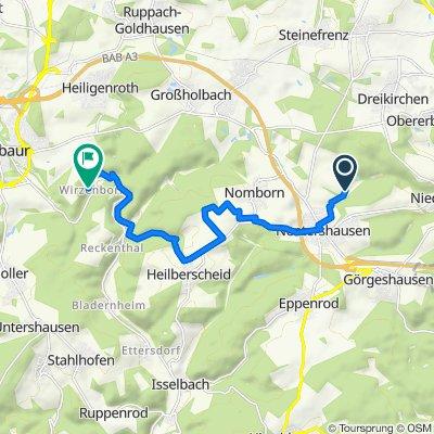 Route nach Heiligenrother Straße 1, Montabaur