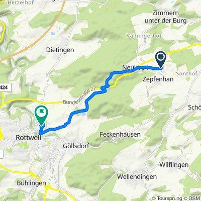 Lanzental, Rottweil nach Balinger Straße 14, Rottweil