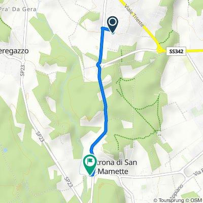 Da Via dei Caduti 3, Olgiate Comasco a Via Giamminola 14, Oltrona di San Mamette