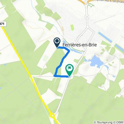De Allée de la Taffarette, Ferrières-en-Brie à Route de Pontcarré, Pontcarré