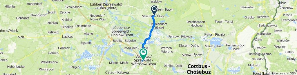 Laasower Straße 11a, Straupitz nach Cottbuser Straße 4, Vetschau/Spreewald