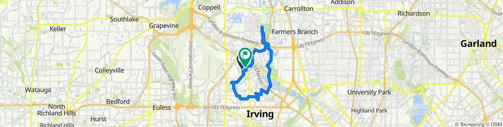 1208–1298 Meadow Creek Dr, Irving to 5401 N MacArthur Blvd, Irving