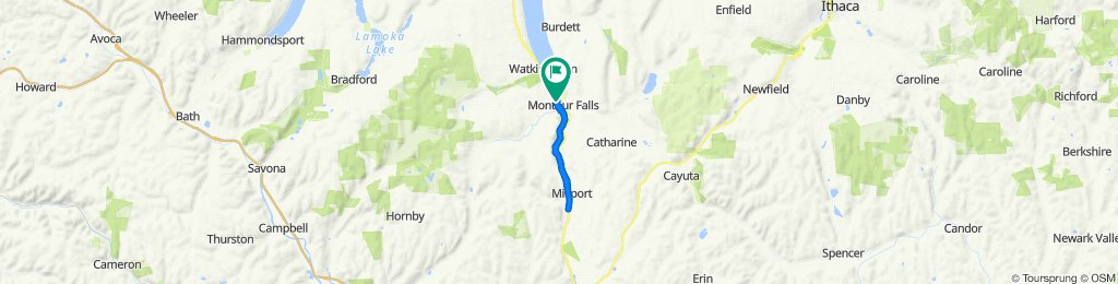 North Genesee Street 220, Montour Falls to North Genesee Street 220, Montour Falls