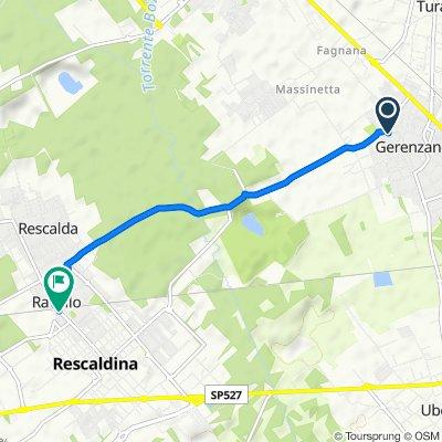 Da Via Quarto dei Mille 27, Gerenzano a Via Giacomo Matteotti 124, Rescaldina