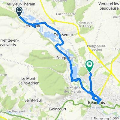 De 6 Rue des Forges, Milly-sur-Thérain à 235bis Rue de Notre-Dame du Thil, Beauvais