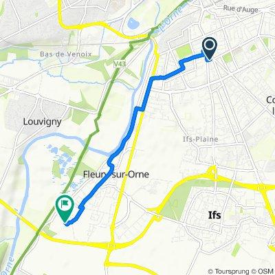De 2bis Avenue Jeanne d'Arc, Caen à 6 Rue de la Vieille Église, Fleury-sur-Orne