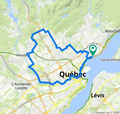 De 3716 Boul Sainte-Anne, Québec à 3718 Boul Sainte-Anne, Québec