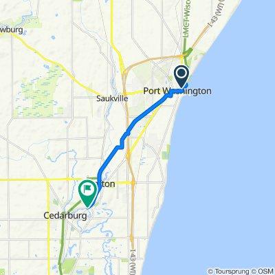 North Wisconsin Street 215, Port Washington to Wisconsin Avenue 2301, Cedarburg