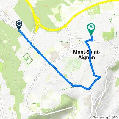 De Route de Maromme, Notre-Dame-de-Bondeville à 22–34 Rue Sainte-Venise, Mont-Saint-Aignan